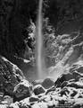 Bridalveil Falls in Winter print