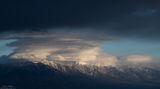 sierra, nevada, shrouded, death valley