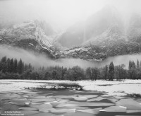 ice, fog, yosemite, valley