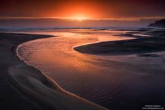 Sunset,Bandon, Beach, oregon