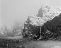 bridal, veil, fall, fog, yosemite, national, park