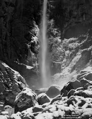 bridal, veil, falls, winter, yosemite, national, park