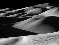 death valley, national park, dune, shadow