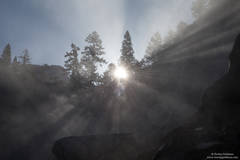 yosemite, vernal, falls, mist, trail, spray,