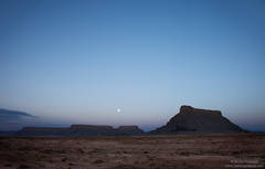 Moonrise at Factory Butte