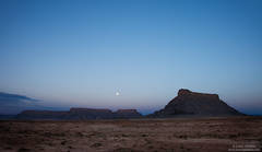 moon, capitol reef, national, park, factory, butte