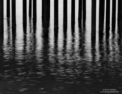 piling, ocean, ripple