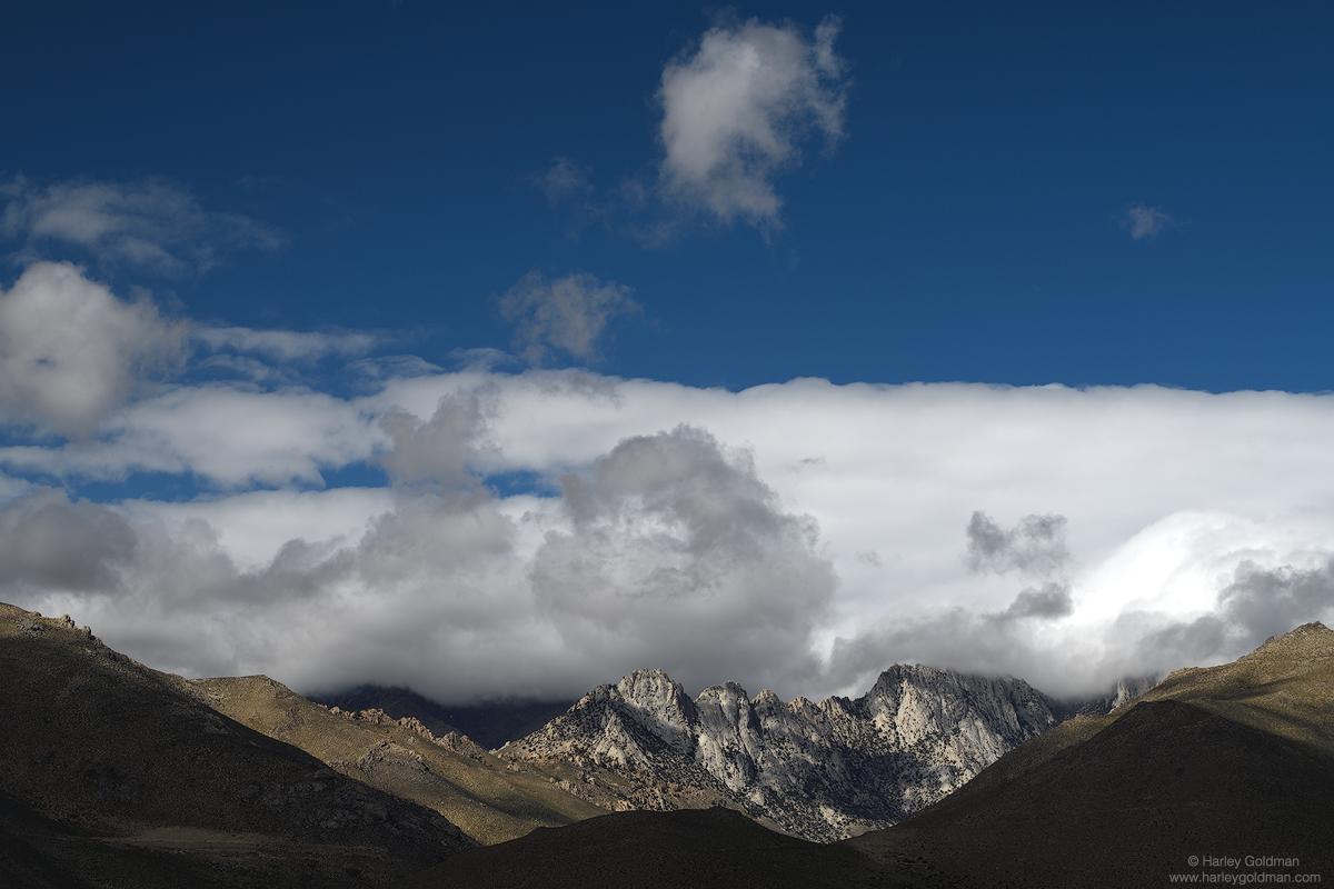 eastern, sierra, nevada, cloud, clouds, mountain, mountains. peaks