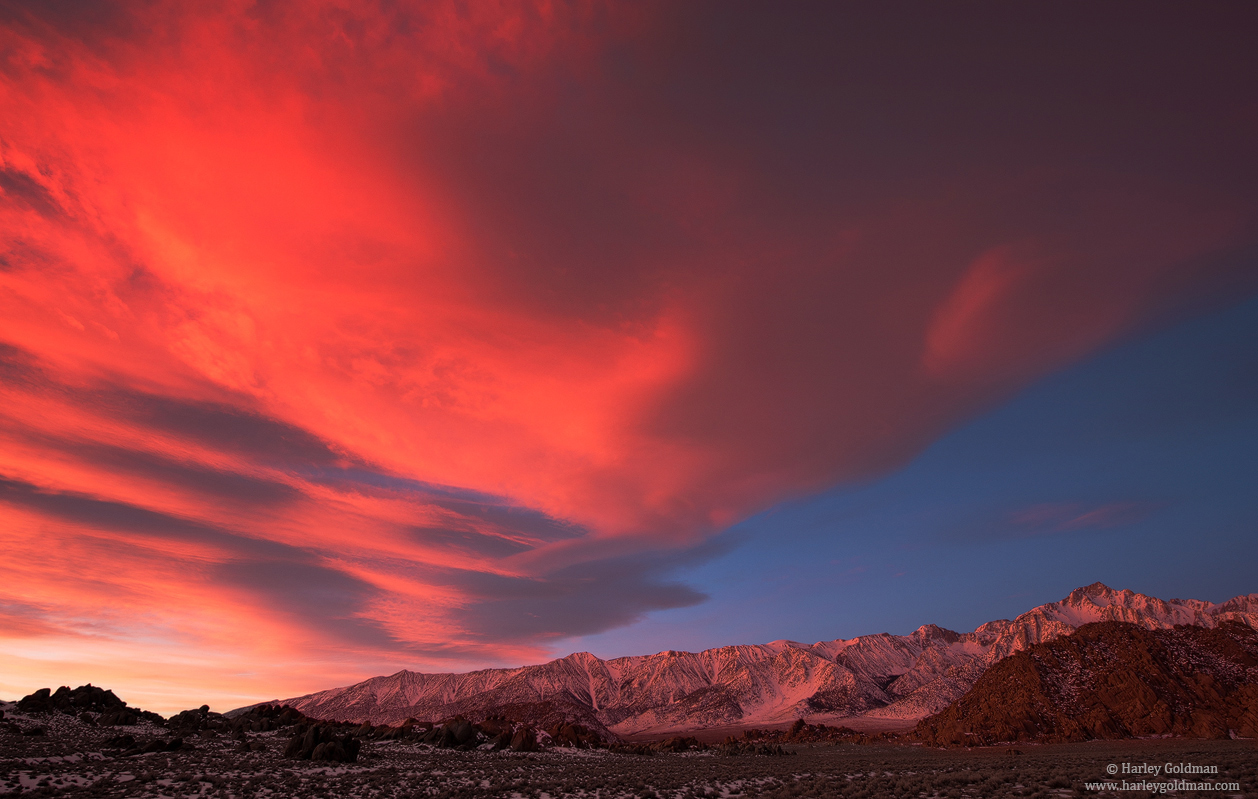 Alabama hills, sierra, nevada, cloud, photo