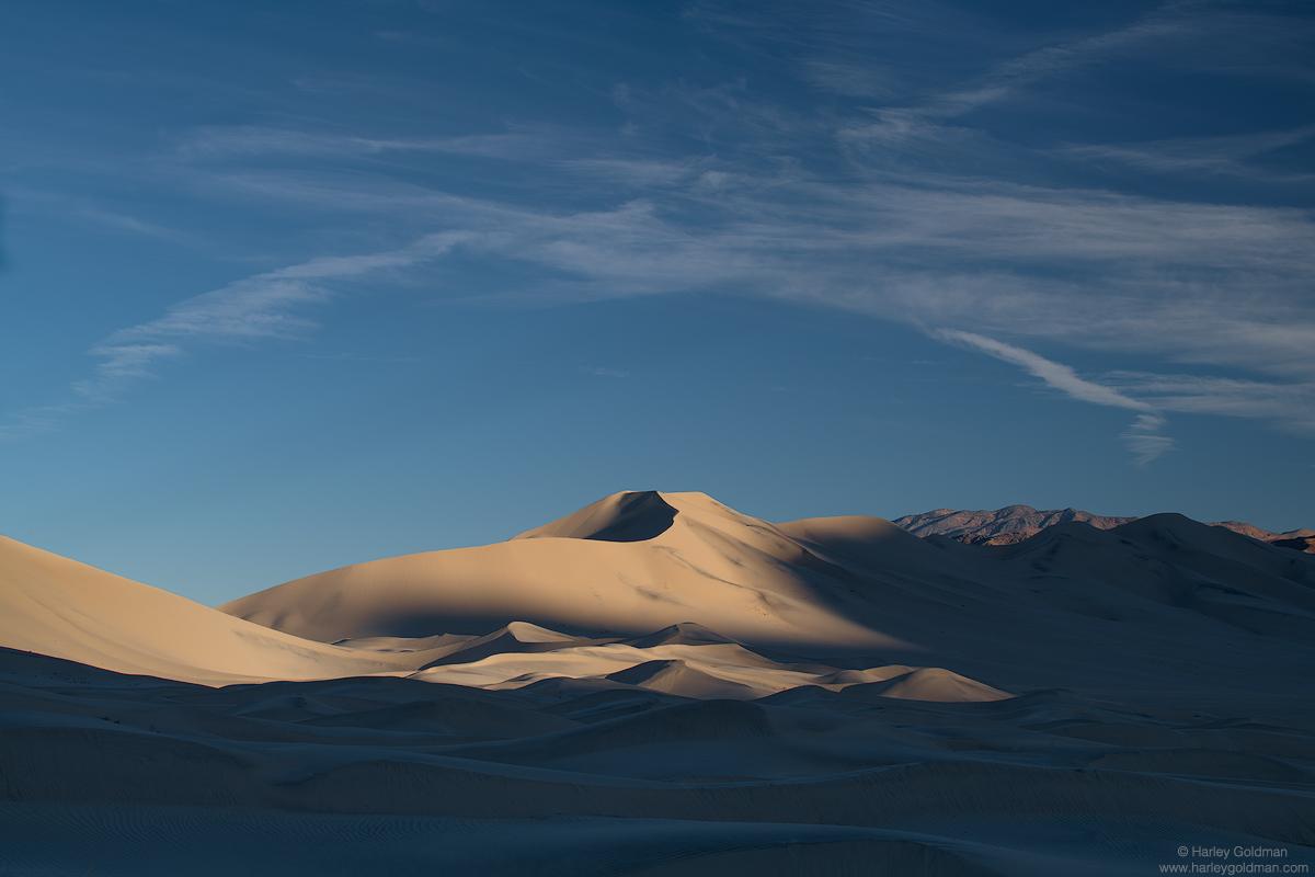 death valley, national, park, dune, desert, winter, cloud