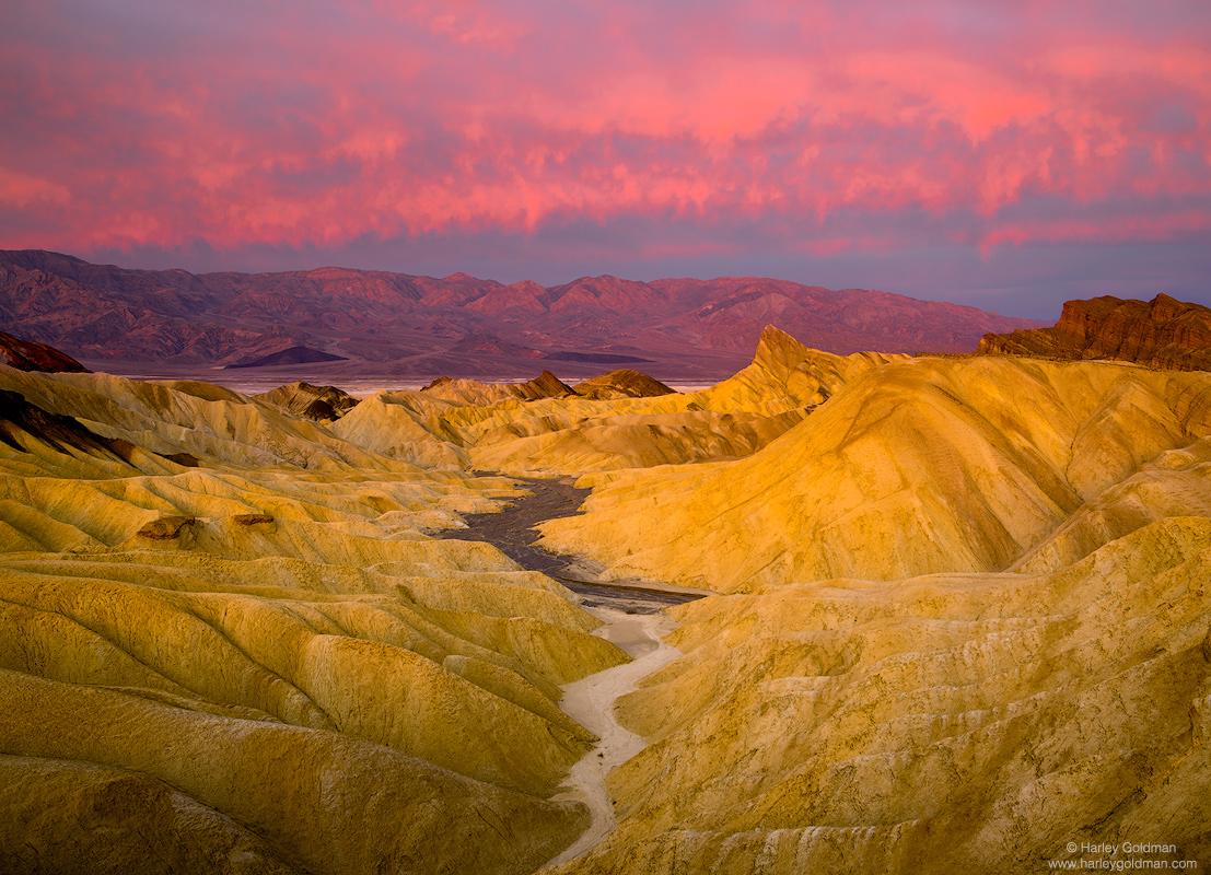death valley, national, park, badland, sunrise, winter, desert, zabriskie