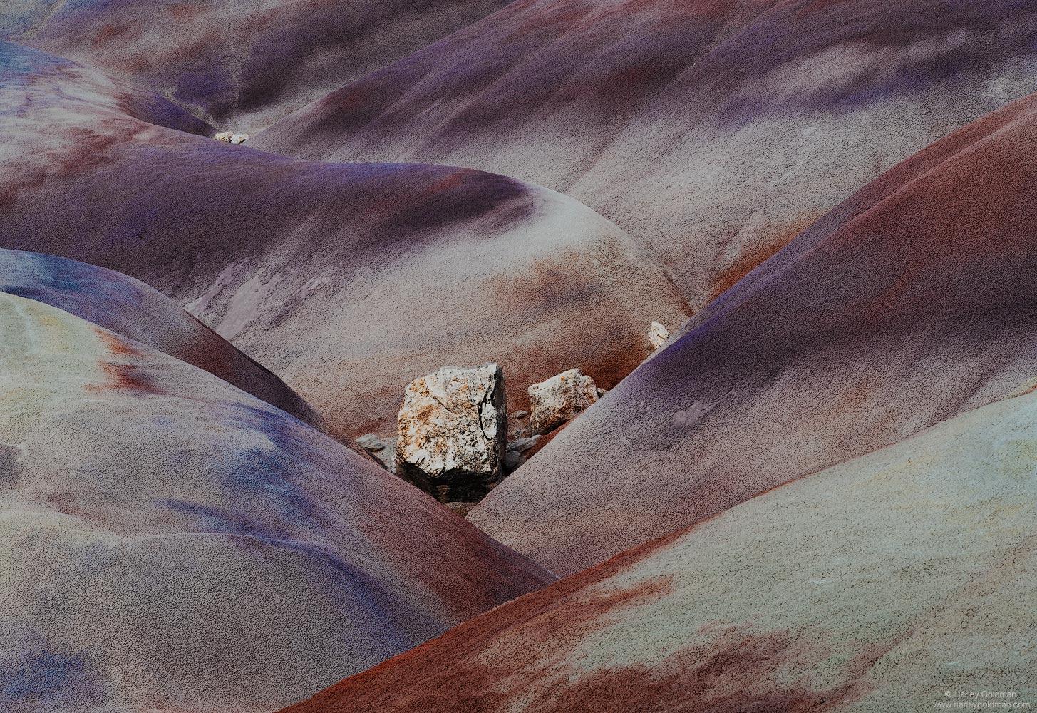 bentonite, boulder, rock, desert, badlands, clay, Utah