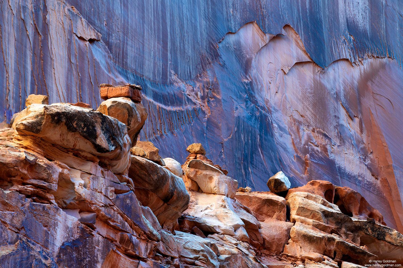 Utah, wall, boulder, sandstone, rock