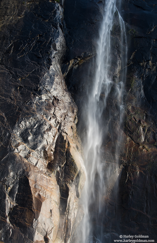 bridalveil, falls, glow, yosemite, national, park, photo