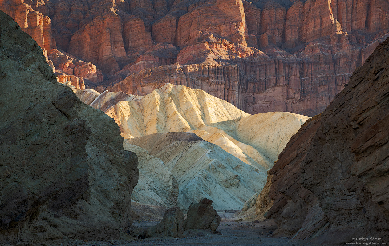 death valley, national, park, canyon, trail, path, winter, badland