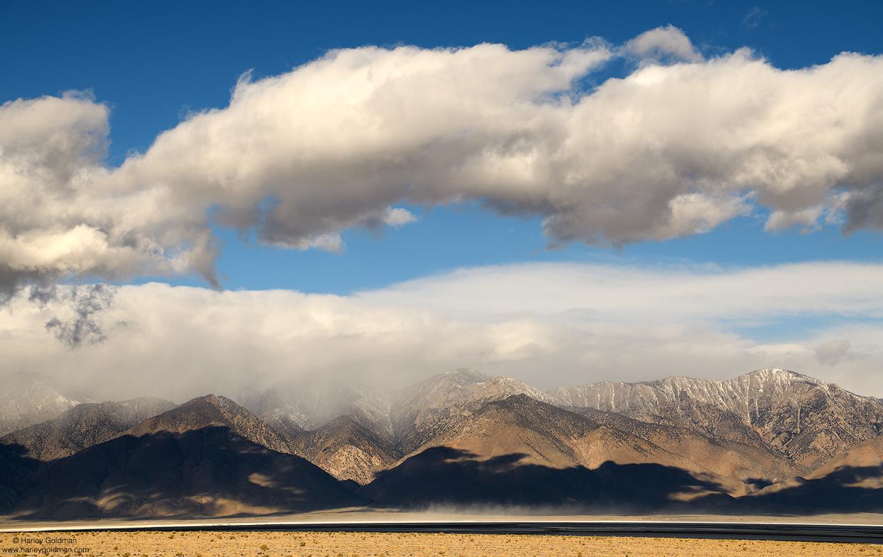 eastern, sierra, nevada, cloud, clouds, owens, lake, mountain, desert, snow
