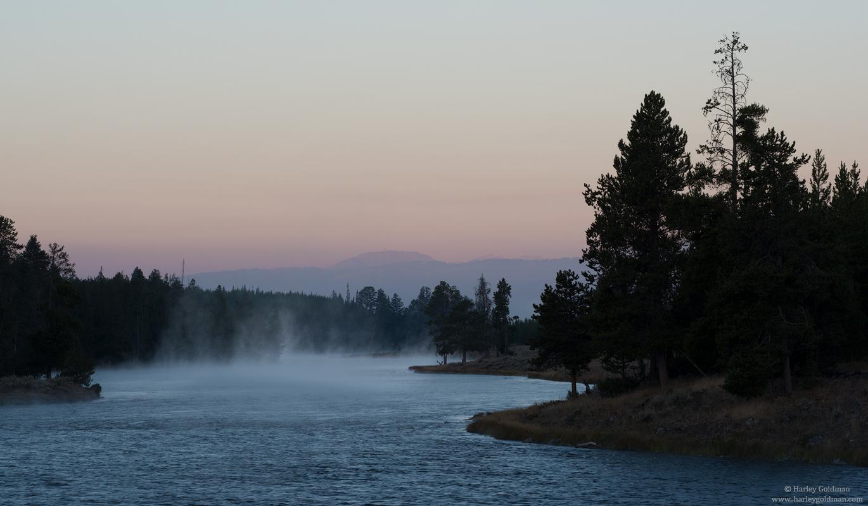 Madison river, Wyoming, Yellowstone, National, Park, morning, photo