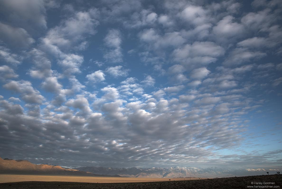 death, valley, cotton, ball, sky, desert, cloud, morning, sunrise, cottonball, sierra, nevada, mountain, range, eastern