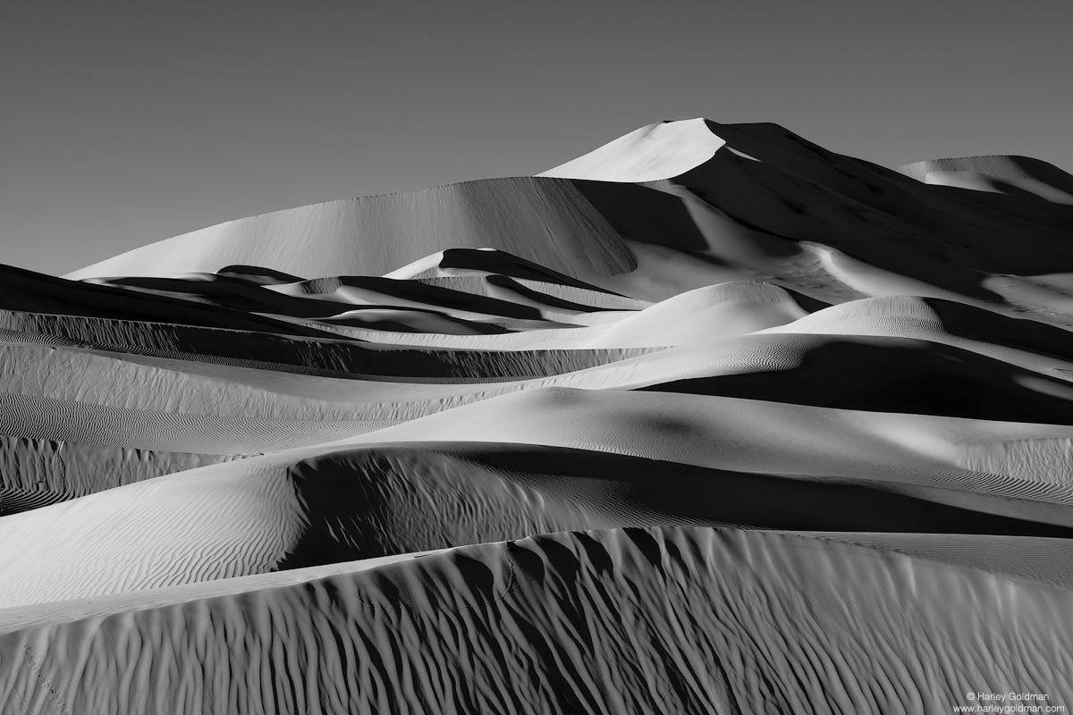 death valley, national, park, dune, sand, desert, curve, ripple, winter