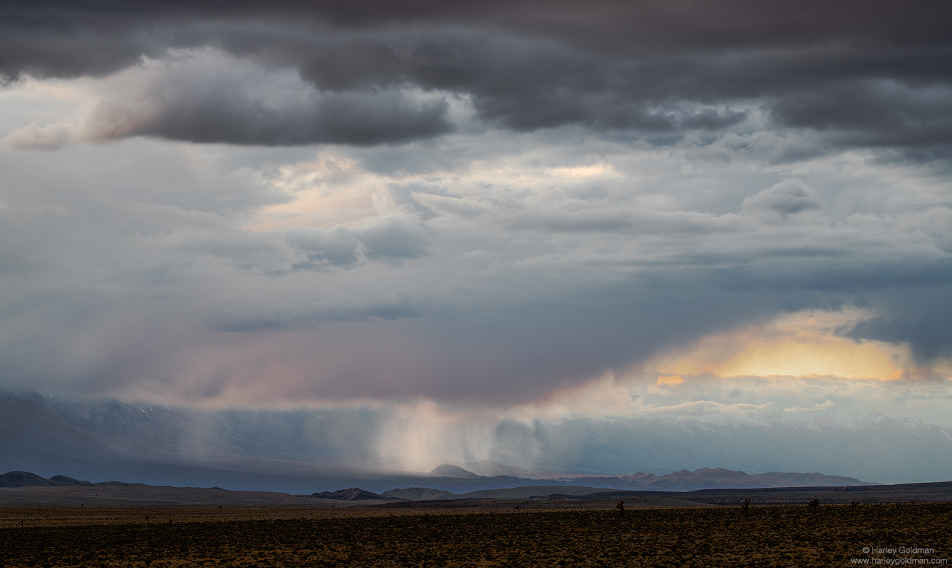 death valley, downpour, rain, cloud, clouds, storm, desert, sierra, nevada, mountain, mountains