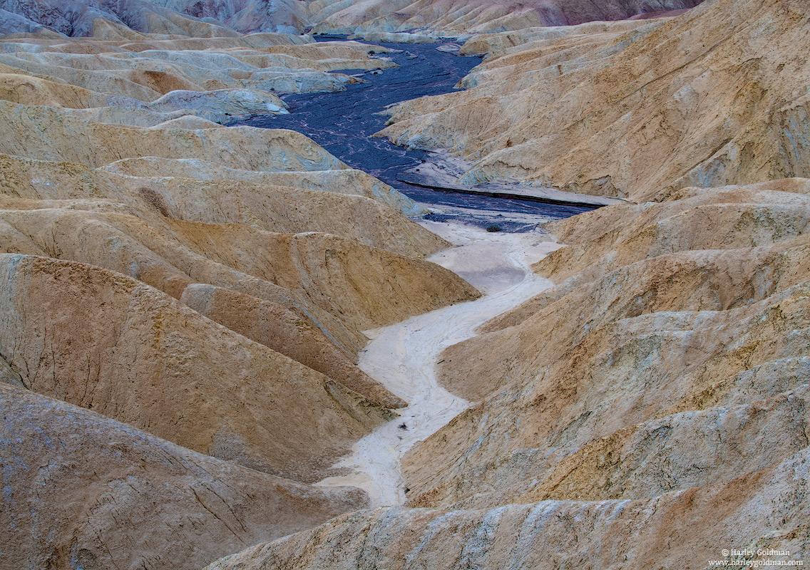 death valley, national, park, wash, badlands