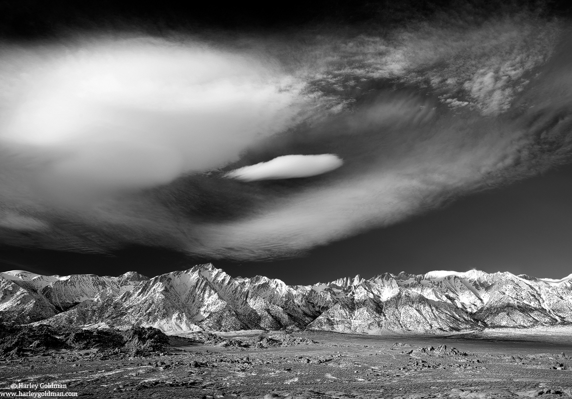 sierra, nevada, clouds, mountains, lone pine, photo