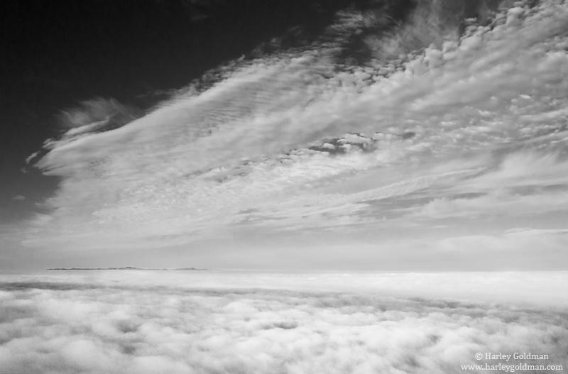 fog, cloud, santa cruz, island, santa, barbara, mountain, photo