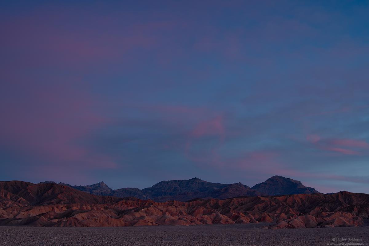 death valley, national, park, sunrise, desert, badland, cloud
