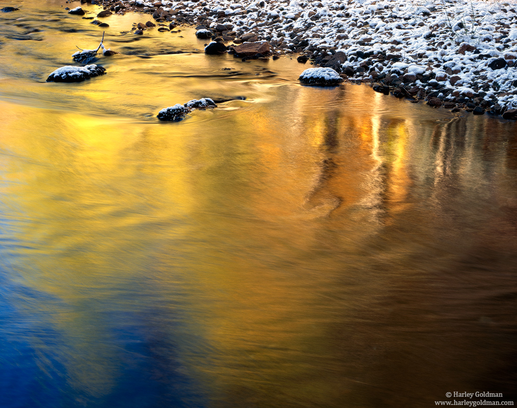 Golden, Reflection, Eastern Sierra, Nevada, Lee Vining, Canyon, photo