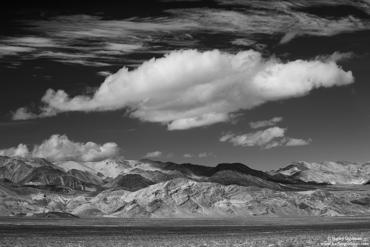 death valley, desert, clouds, afternoon, photo