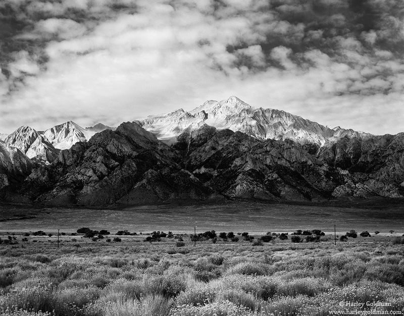 owens, valley, california, highway, 395, sierra, nevada, photo