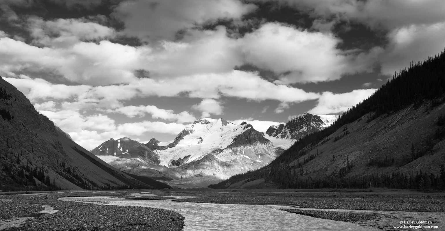 icefield, athabasca, river, alberta, canada, photo