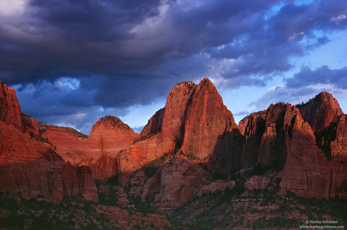 Zion, National Park, Utah, kolob, photo