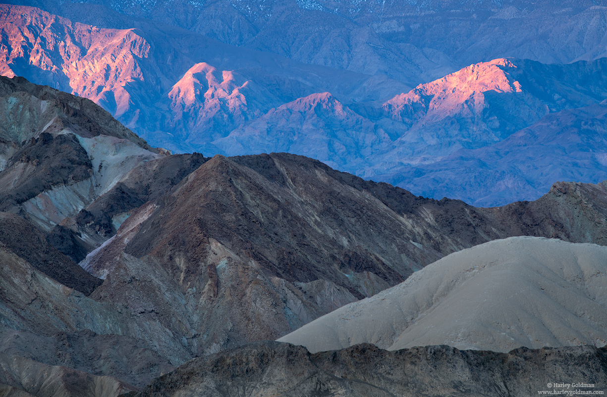 death valley, national, park, layer, sunrise, black mountains
