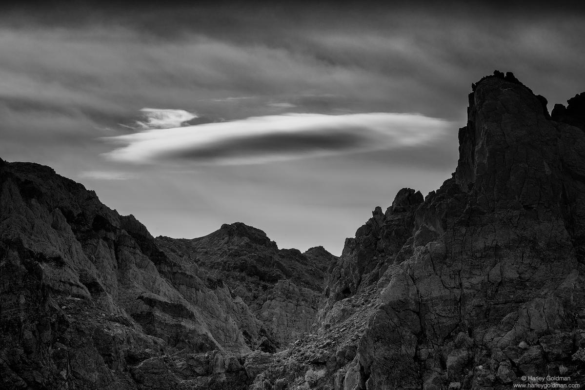 death valley, park, lenticular, cloud, mountain