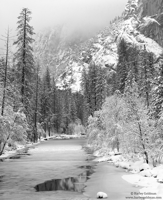 Yosemite, Valley, National, Park, merced, river, snow, storm, photo