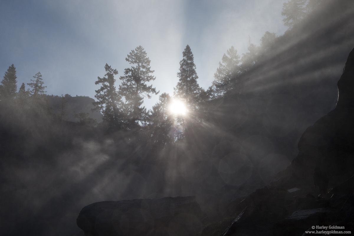 yosemite, vernal, falls, mist, trail, spray, , photo