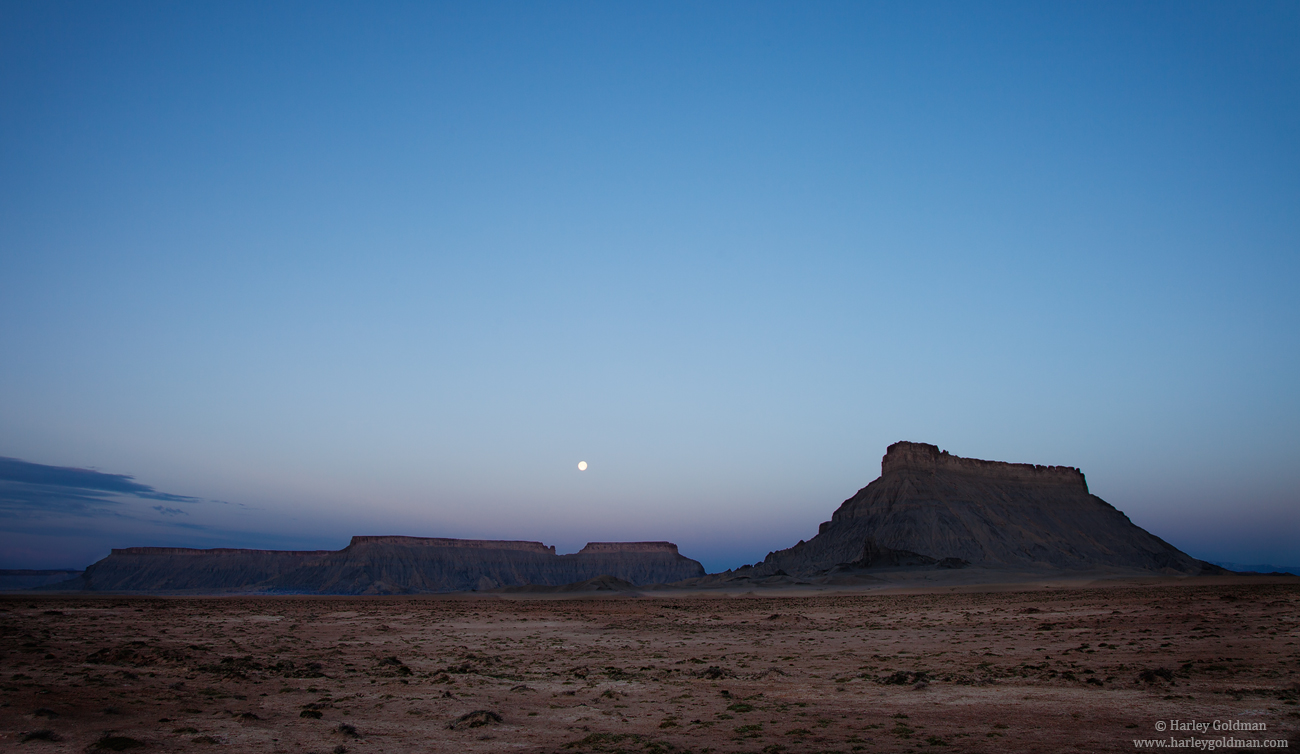 moon, capitol reef, national, park, factory, butte, photo