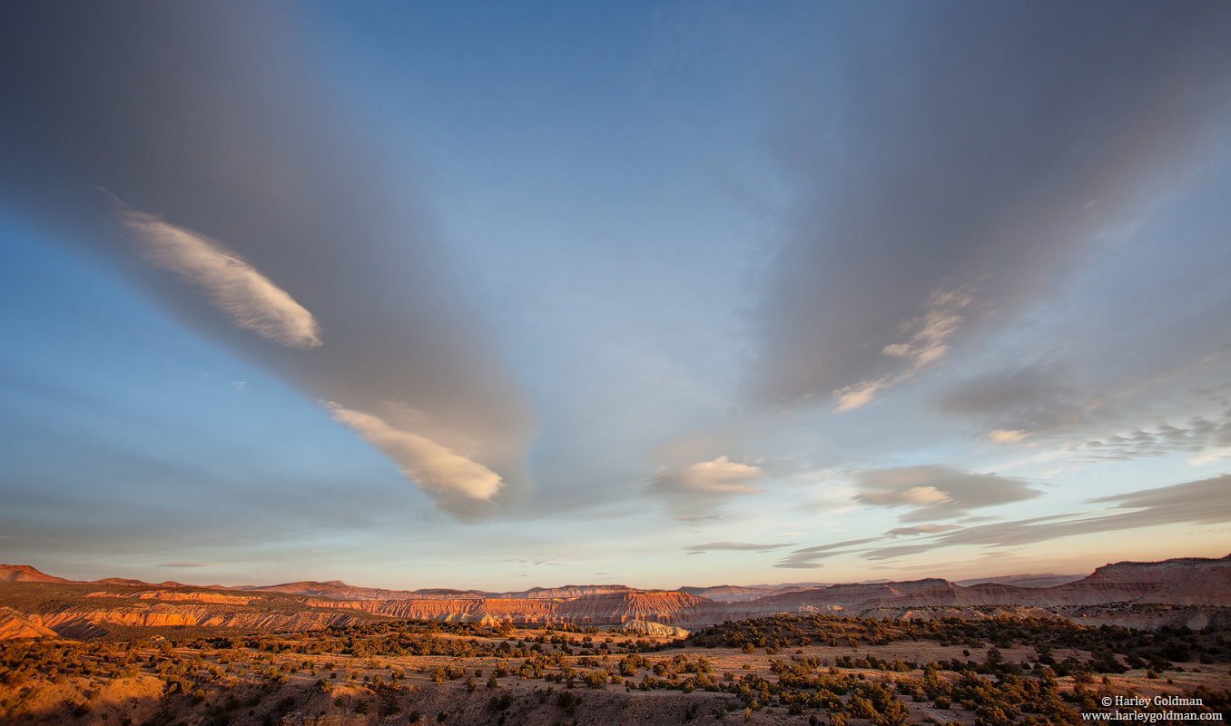 utah, morning, clouds, photo