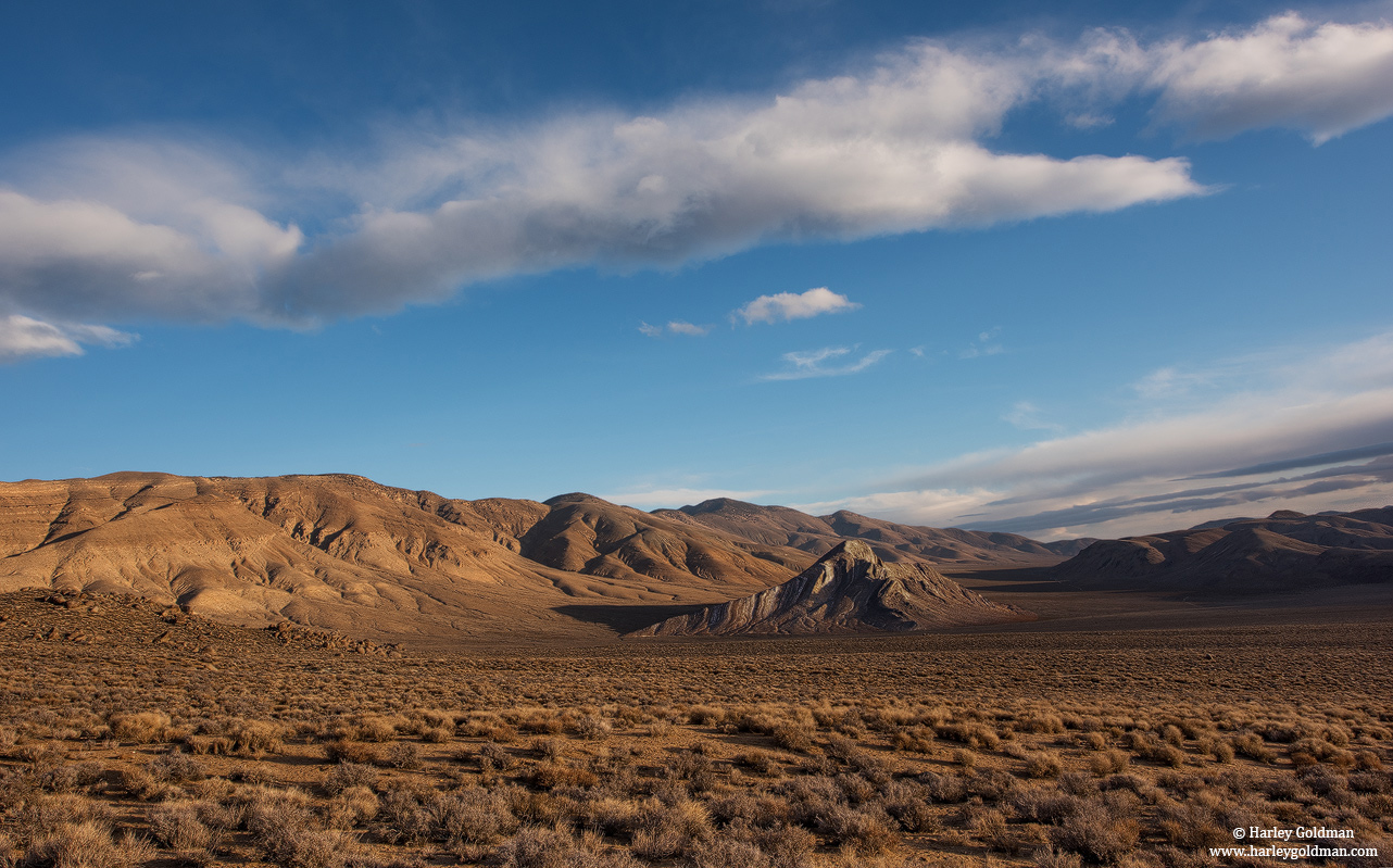 morning, striped, butte, death, valley, national, park, photo