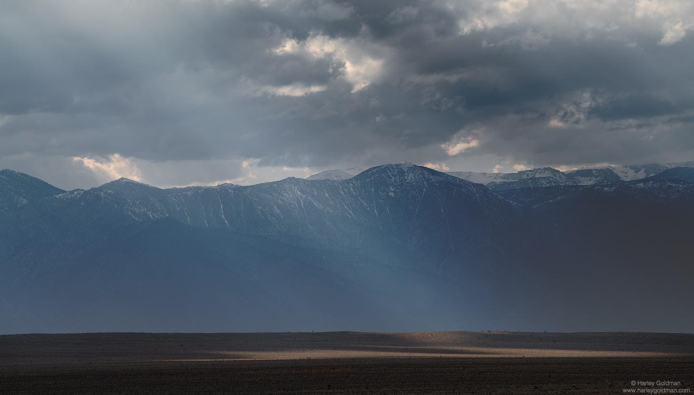 death valley, spotlight, beam, mountain, sierra, nevada, desert, sunset, cloud, clouds