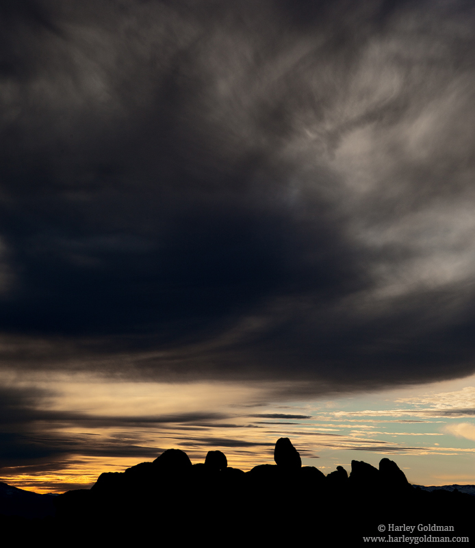 lone, pine, ca, alabama, hills, peak, sunset, eastern, sierra, sky, ominous, photo