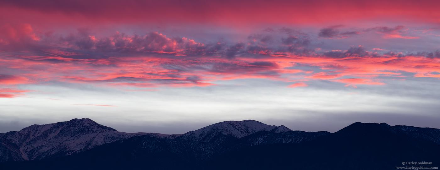 death valley, national, park, sunset, panamint, panamints, mountain