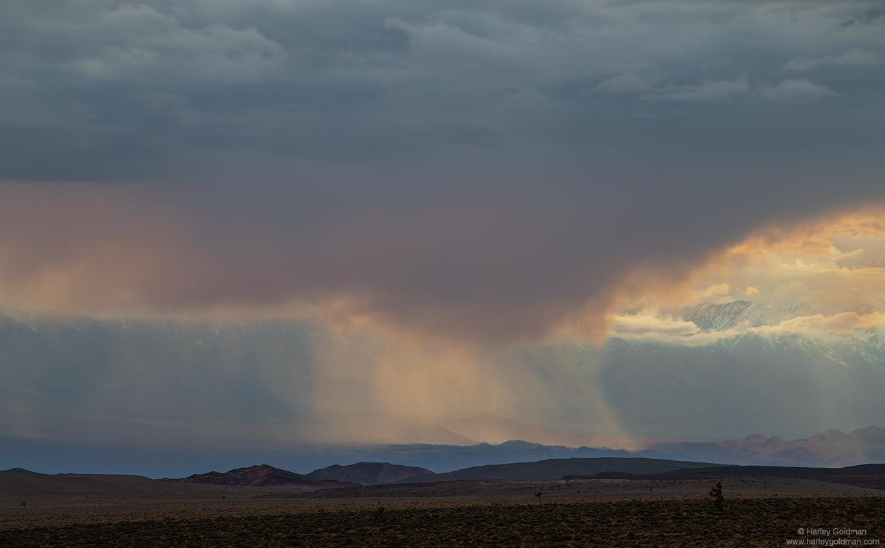 death valley, rain, storm, cloud, clouds, desert, evening, sunset, eastern, sierra, nevada