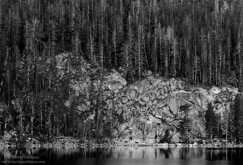 rock, creek, lake, sierra, nevada, morning, photo
