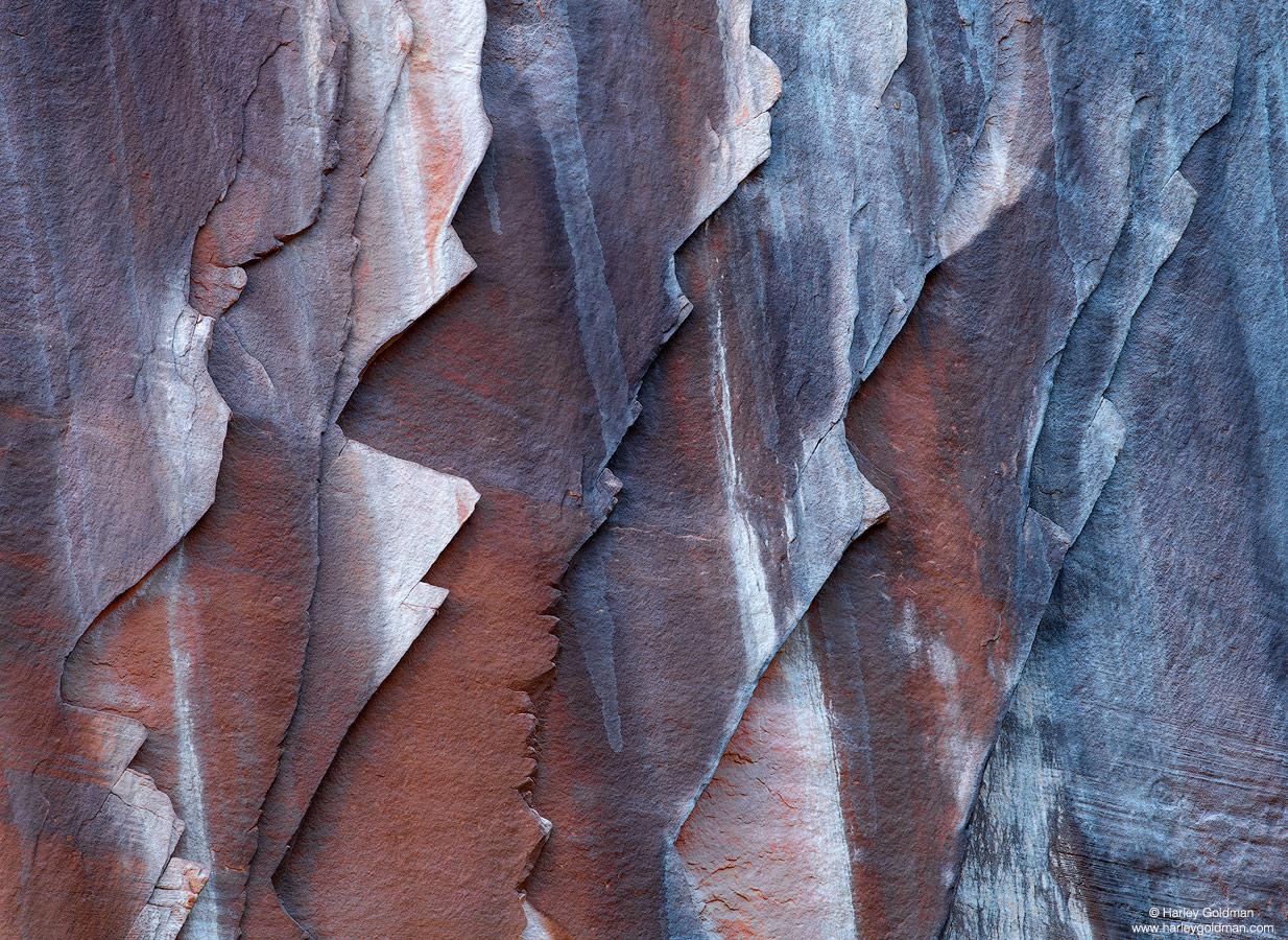 Utah, rock, layer, sandstone, wall, flake, canyon