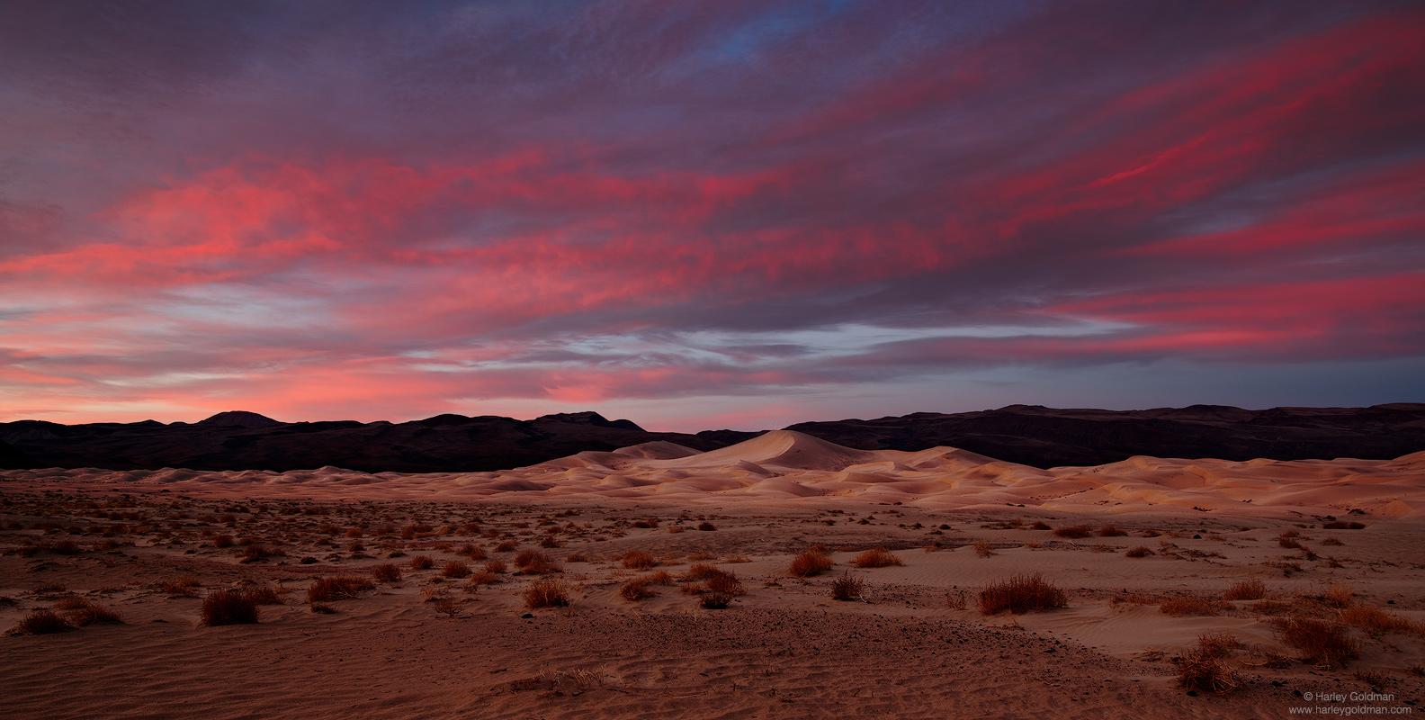 death valley, national, park, sunrise, sand, dune, desert, mountain