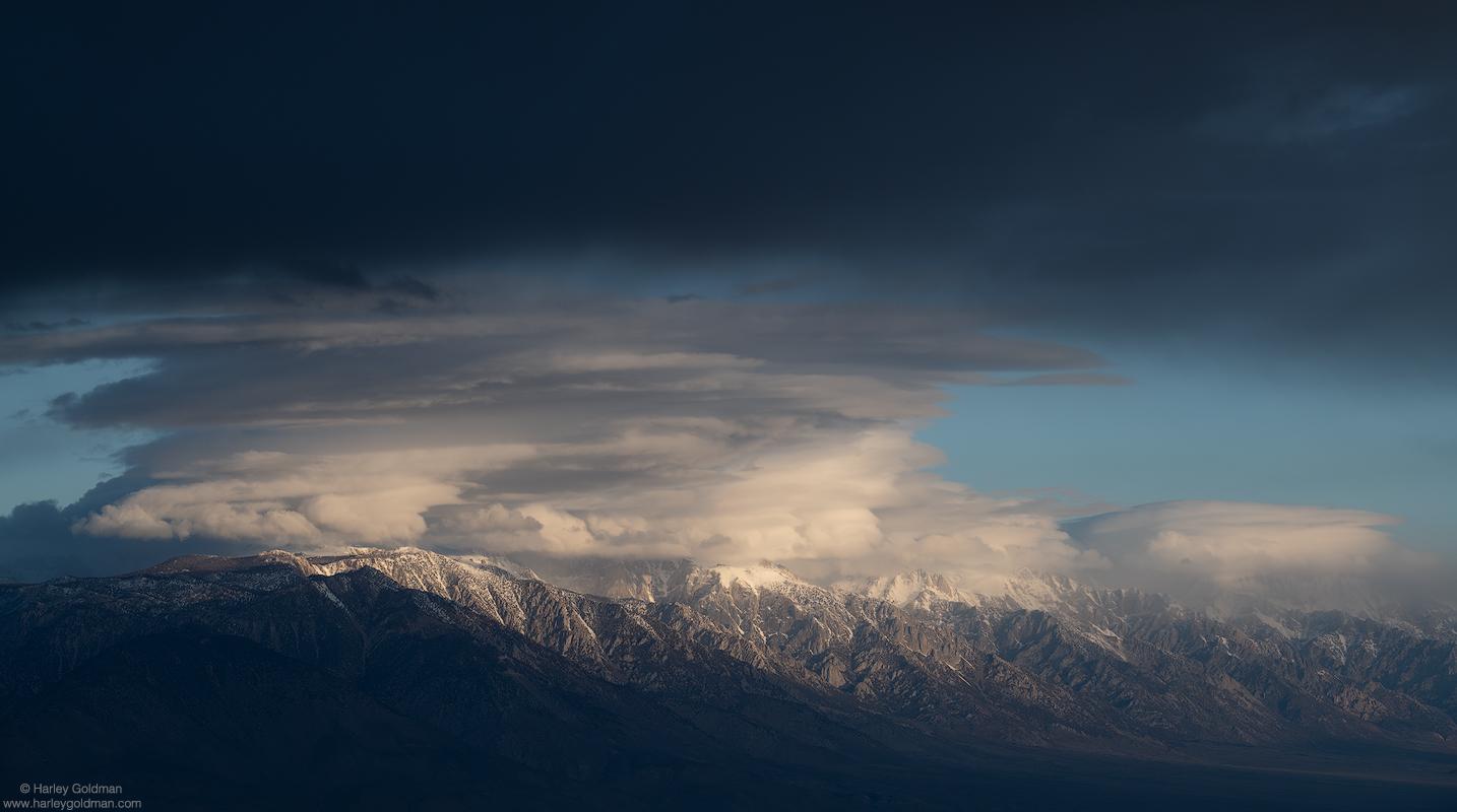 sierra, nevada, shrouded, death valley, photo