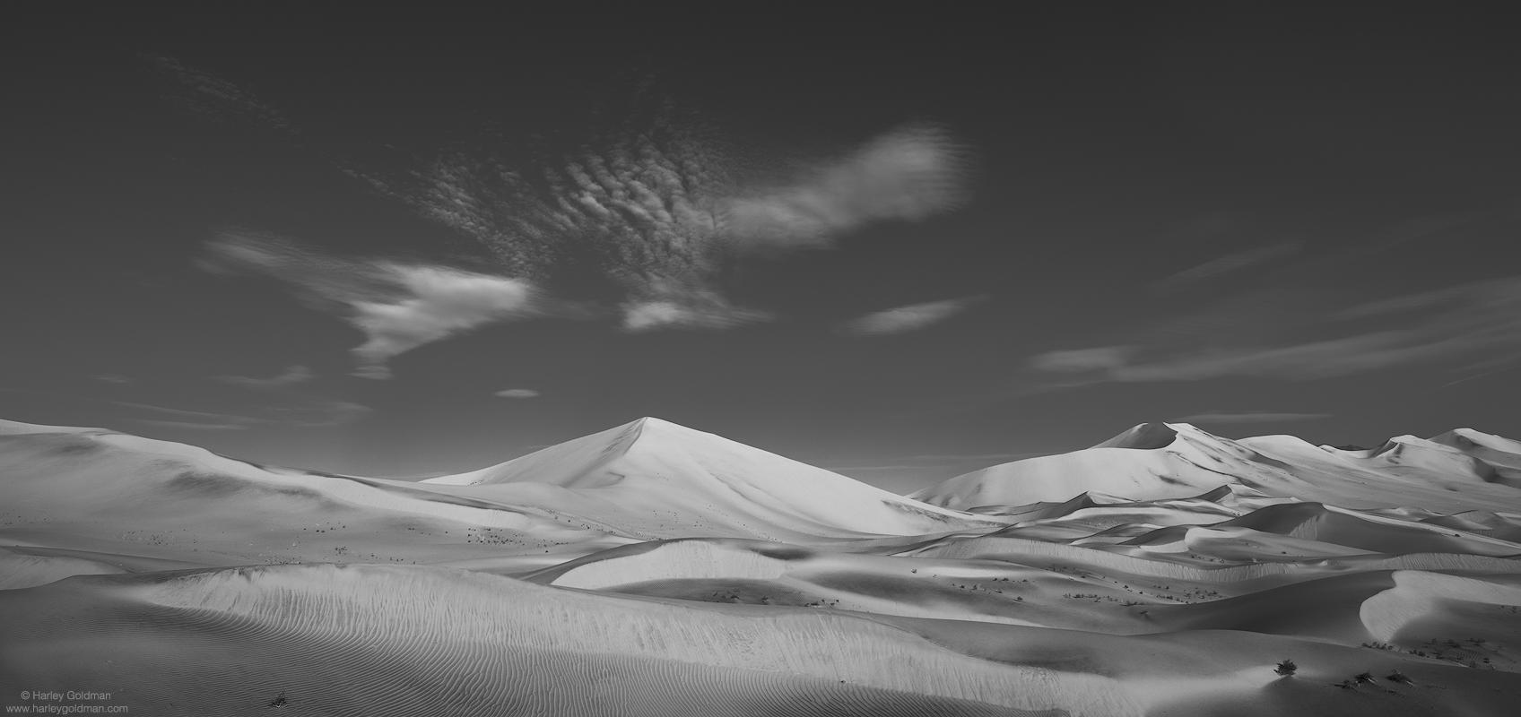 death valley, national, park, dune, cloud, desert, winter