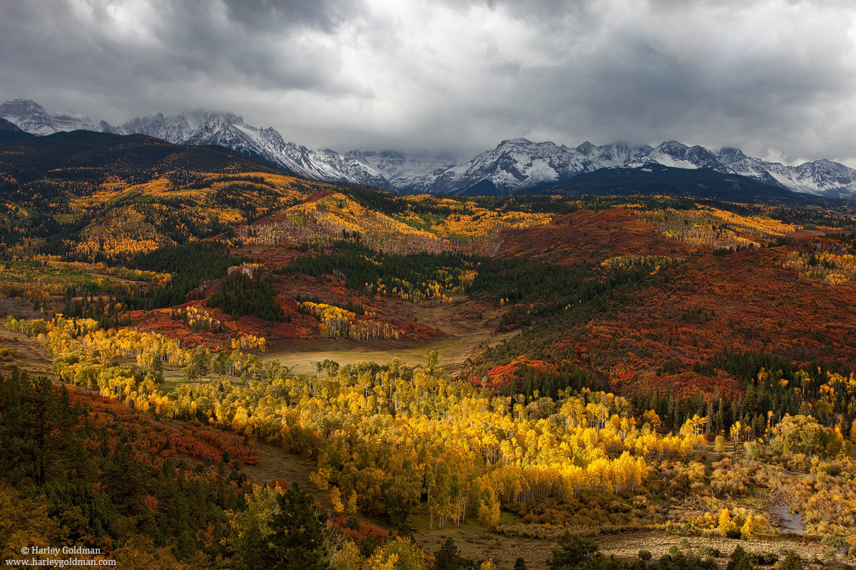 Mt., Sneffels, Obscured,Clouds, San Juan, Mountains, Colorado, photo